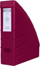 Bantex Optima Magazine A4 70mm Filing Box - Burgundy