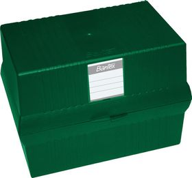 Bantex A5 Card File Box - Green