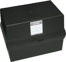 Bantex A5 Card File Box - Black