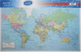Bantex desk pad world map political buy online in south africa bantex desk pad world map political gumiabroncs Images