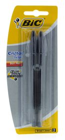 BIC Cristal Large Ballpoint Pens - Black (Blister of 2)
