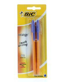 BIC Orange Fine Ballpoint Pens - Blue (Blister of 2)