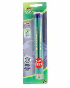 BIC Ecolutions Evolution 655 HB Pencils (Blister of 3+2)