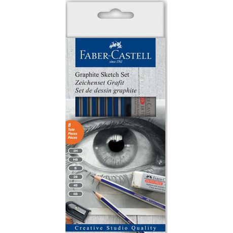 Faber-Castell Goldfaber HB Sketch Set (Set of 6 Various Grades)
