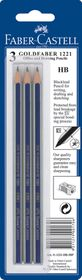 Faber-Castell Goldfaber Pencils - HB (3 Pack)