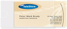 3L Self-Adhesive Business Card Pockets Side Open (Pack of 10)