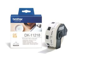 Brother DK-11218 Round Labels (24mm Diameter) Roll - Black on White Paper
