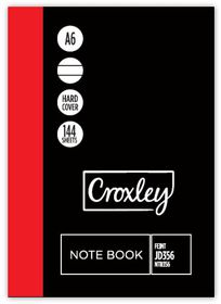 Croxley JD356 144 Page A6 Feint Hard Cover Note Book (20 Pack)