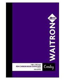 Croxley JD16W A6 Waitron Pen Carbon Book Duplicate