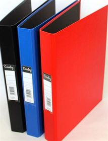 Croxley S1220 A4 2 O-Ring 25mm Polyprop Ringbinder - Blue