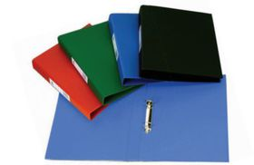 Croxley S1330 A4 2 O-Ring 25mm Polyprop Ringbinder with Pocket - Blue