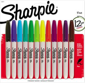 Sharpie 12 Fine Point Permanent Markers