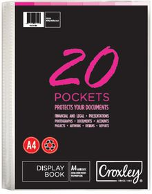 Croxley A4 Hard Cover Display File - 20 Pocket