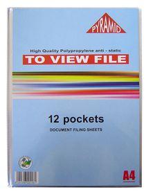 Croxley Pyramid Display File - 12 Pocket