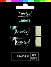 Croxley Create Large Erasers - Blister of 2