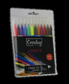 Croxley Create 12 Fibre Tip Kokis