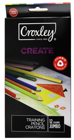 Croxley Create 12 Full Length Triangular Colour Pencils