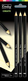 Croxley Create Graphite Pencils - HB (Blister of 3)