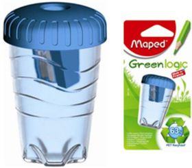 Maped Green Logic 1 Hole Barrel Sharpener