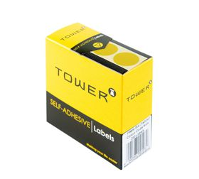 Tower C19 Colour Code Labels - Yellow
