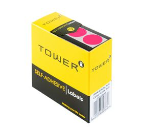 Tower C19 Colour Code Labels - Fluorescent Pink