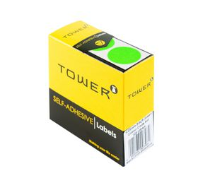 Tower C25 Colour Code Labels - Fluorescent Green