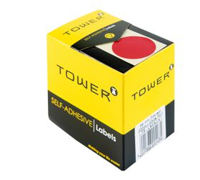 Tower C32 Colour Code Labels - Red