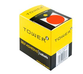 Tower C32 Colour Code Labels - Fluorescent Red