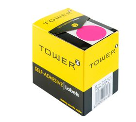 Tower C32 Colour Code Labels - Fluorescent Pink