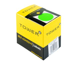 Tower C32 Colour Code Labels - Fluorescent Green
