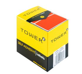 Tower R3250 Colour Code Labels - Fluorescent Red
