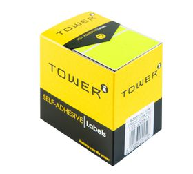 Tower R3250 Colour Code Labels - Fluorescent Lime