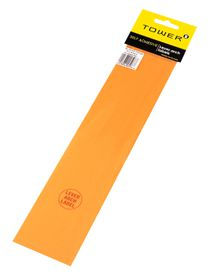 Tower Lever Arch Labels - Fluorescent Orange (Pack of 12)