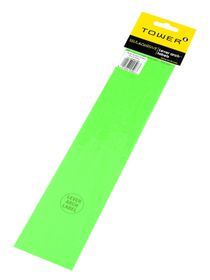 Tower Lever Arch Labels - Fluorescent Green (Pack of 12)