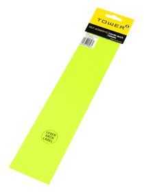 Tower Lever Arch Labels - Fluorescent Lime (Pack of 12)