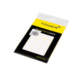 Tower White Sheet Labels - S2075