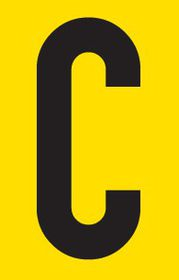 Tower Adhesive Letter Sign - Medium C