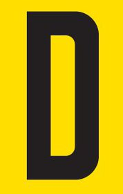 Tower Adhesive Letter Sign - Small D