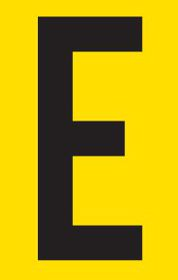 Tower Adhesive Letter Sign - Small E
