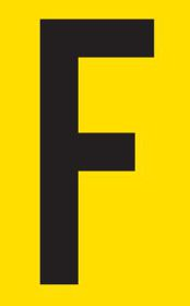 Tower Adhesive Letter Sign - Small F