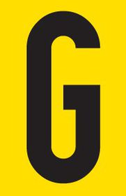 Tower Adhesive Letter Sign - Small G