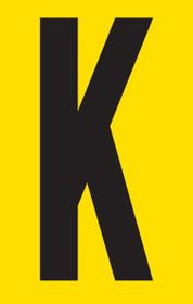 Tower Adhesive Letter Sign - Small K