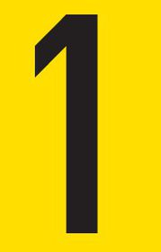 Tower Adhesive Number Sign - Small 1
