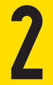 Tower Adhesive Number Sign - Small 2