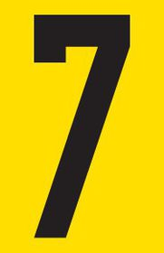 Tower Adhesive Number Sign - Small 7