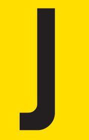 Tower Adhesive Letter Sign - Medium J