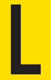 Tower Adhesive Letter Sign - Medium L