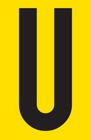 Tower Adhesive Letter Sign - Medium U