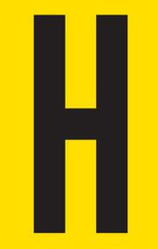 Tower Adhesive Letter Sign - Large H