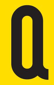 Tower Adhesive Letter Sign - Large Q